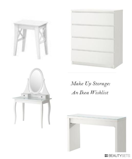 Make Up Storage Wishlist Futures - White dressing table ikea