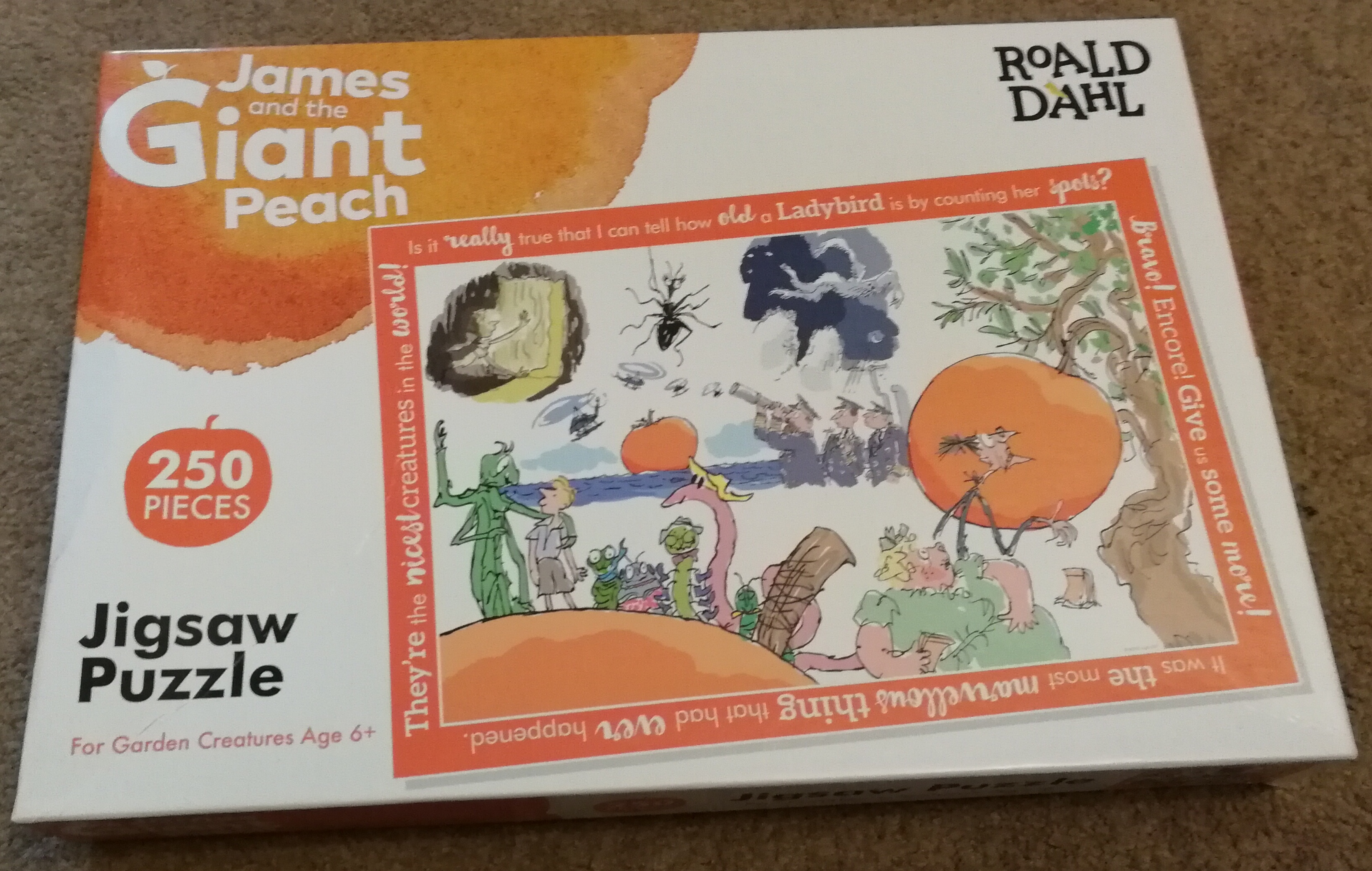 James and the giant peach 250 piece puzzle box